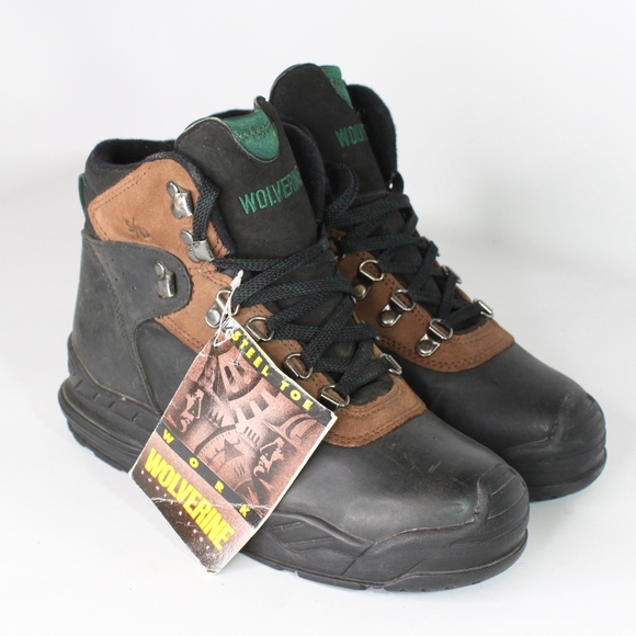 04b937aa6b2 Vtg New Wolverine Mens 7 S/D Steel Toe Work Boots NWT